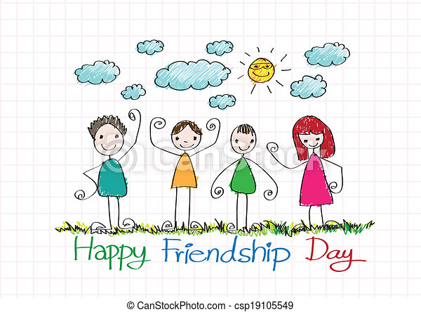 friendship day cartoon easy drawing pictures www