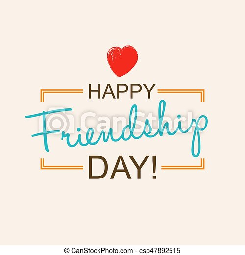 Happy Friendship Day Card Or Background 30th Of July Festive Poster Banner With Hand Lettering Flat Design