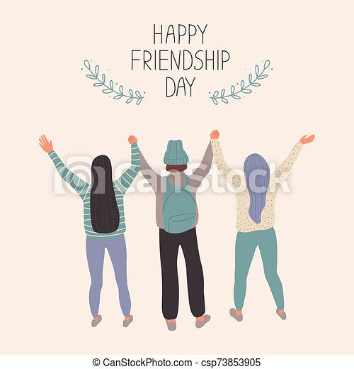 Happy Friendship Day Vector illustration - csp73853905
