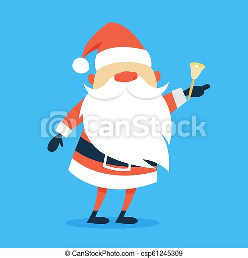 3cac72a8935 Happy funny Santa Claus in red clothes - csp61245309
