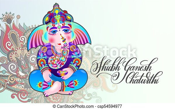 Happy ganesh chaturthi beautiful greeting card shubh ganesh happy ganesh chaturthi beautiful greeting card csp54594977 m4hsunfo