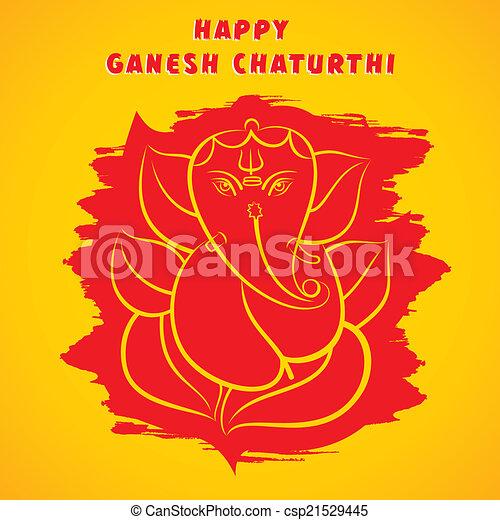 Happy ganesh chaturthi greeting happy ganesh chaturthi sketch happy ganesh chaturthi greeting csp21529445 m4hsunfo