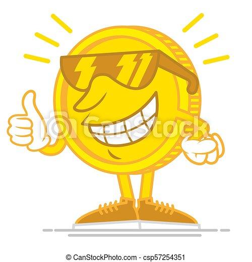 Happy gold coin - csp57254351