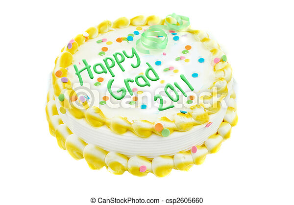 Happy Graduation  cake - csp2605660
