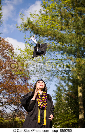 Happy graduation girl - csp1859260