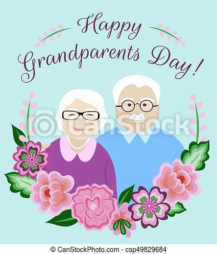 Grandparents day card ukrandiffusion happy grandparents day card with senior couple vector search clip m4hsunfo