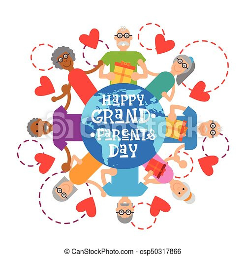 Happy grandparents day greeting card banner vector illustration happy grandparents day greeting card banner csp50317866 m4hsunfo
