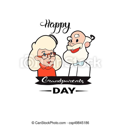 Happy grandparents day greeting card banner with grandfather happy grandparents day greeting card banner with grandfather and grandmother csp49845186 m4hsunfo