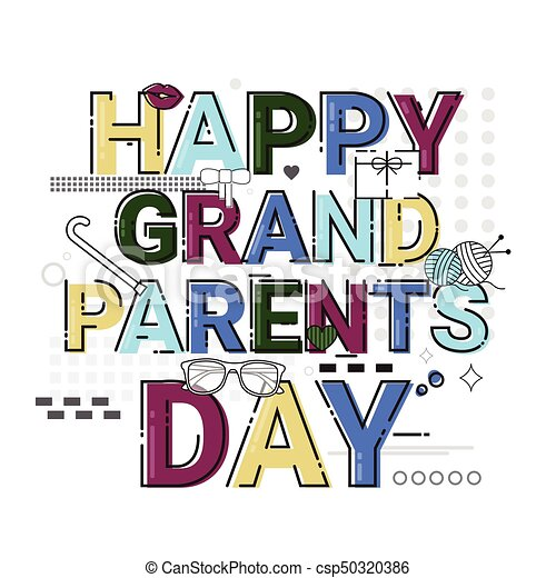 Happy grandparents day greeting card banner vector illustration happy grandparents day greeting card banner csp50320386 m4hsunfo