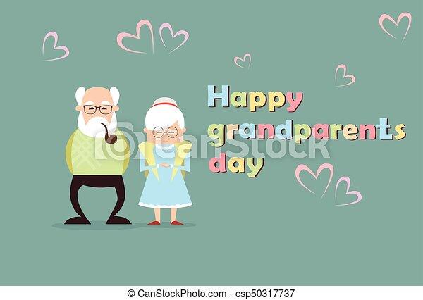 Happy grandparents day greeting card banner vector illustration happy grandparents day greeting card banner csp50317737 m4hsunfo