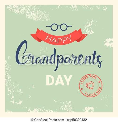 Happy grandparents day greeting card banner vector illustration happy grandparents day greeting card banner csp50320432 m4hsunfo