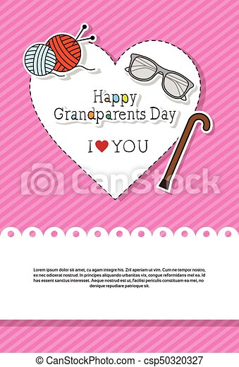 Happy grandparents day greeting card banner vector illustration happy grandparents day greeting card banner csp50320327 m4hsunfo