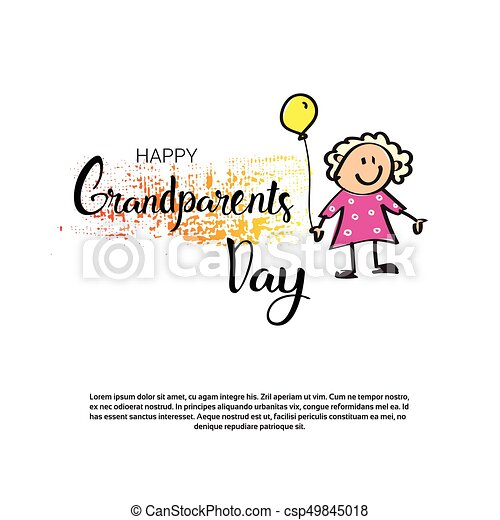 Happy grandparents day greeting card banner with copy space vector happy grandparents day greeting card banner with copy space csp49845018 m4hsunfo