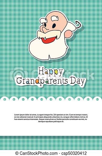 Happy grandparents day greeting card banner vector vector clip happy grandparents day greeting card banner csp50320412 m4hsunfo