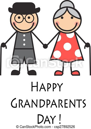happy grandparents day cartoon grandparents with canes on grandparents clip art free grandparents clip art images