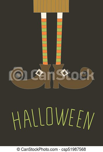Happy Halloween Background, Card For Your Design. Vector