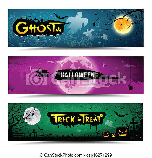 Happy Halloween Day Banner Vector