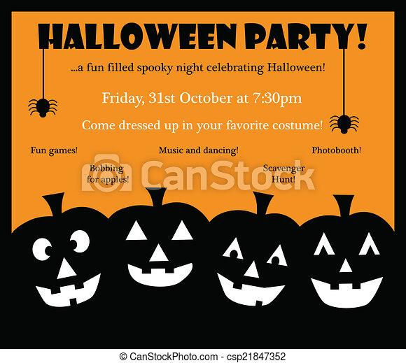 Happy halloween invite happy halloween party invite invitation happy halloween invite csp21847352 stopboris Gallery