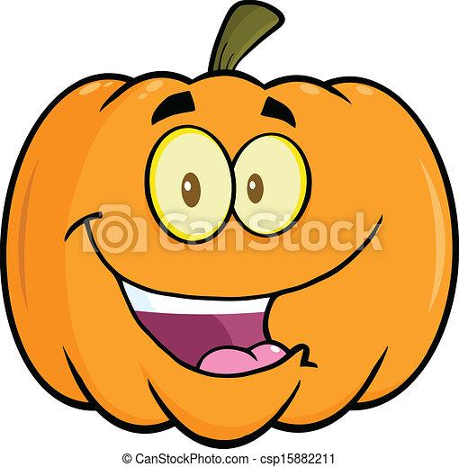 happy halloween pumpkin cartoon mascot illustration vector clip art rh canstockphoto com Adventure Clip Art Smiling Pumpkin Faces Clip Art