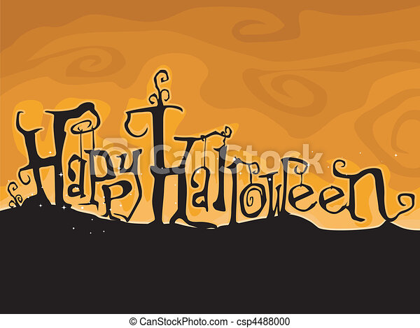 Happy Halloween - csp4488000