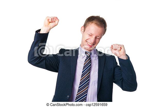 happy handsome businessman in suit - csp12591659