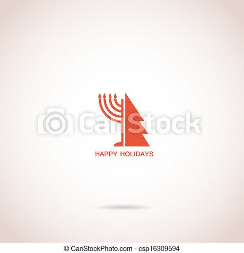 happy Hanukkah and happy holidays - csp16309594
