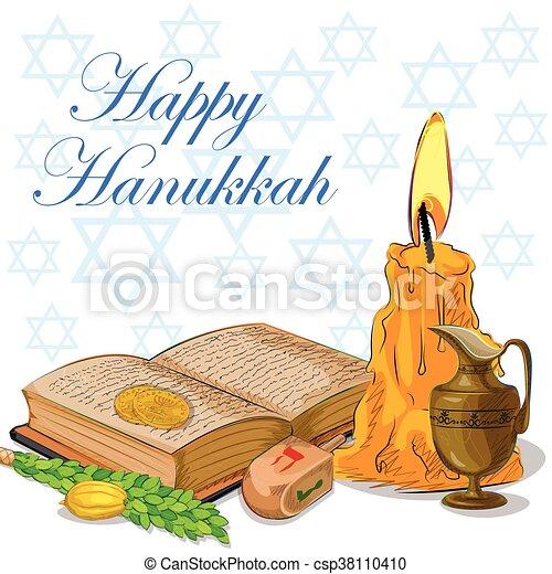 Happy Hanukkah festival celebration background - csp38110410