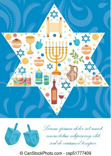 Happy hanukkah greeting card flyer poster template for vector happy hanukkah greeting card flyer poster template for your invitation design with m4hsunfo
