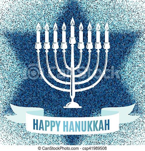 Happy hanukkah greeting card happy hanukkah greeting card vector happy hanukkah greeting card csp41989508 m4hsunfo
