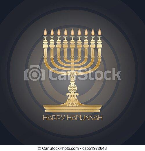 Happy hanukkah jewish holiday hanukkah greeting card eps vector jewish holiday hanukkah greeting card csp51972643 m4hsunfo