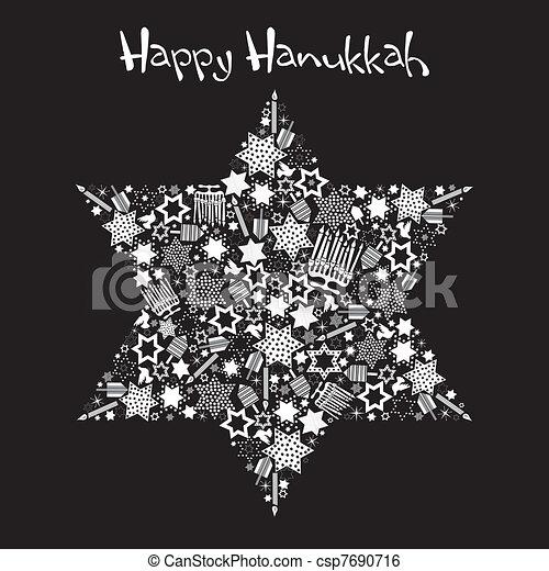 Happy Hanukkah Star of David - csp7690716