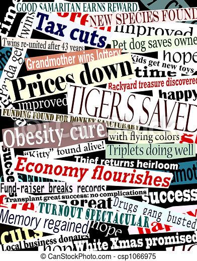Happy headlines - csp1066975