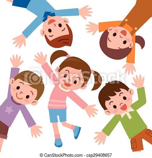 Laughing Cartoon Kids