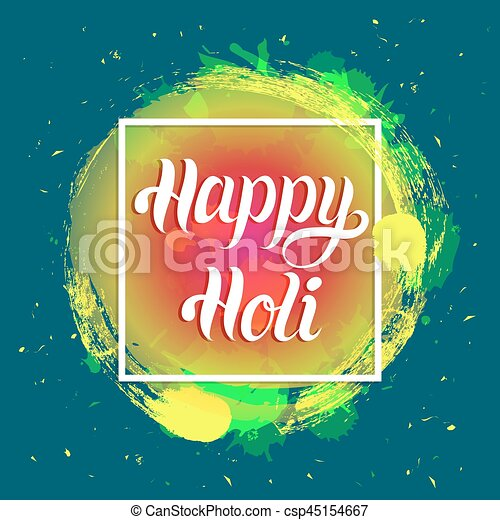 Happy holi greeting card poster festival of colours in clip art happy holi greeting card poster festival of colours in india vector background holiday of sharing m4hsunfo
