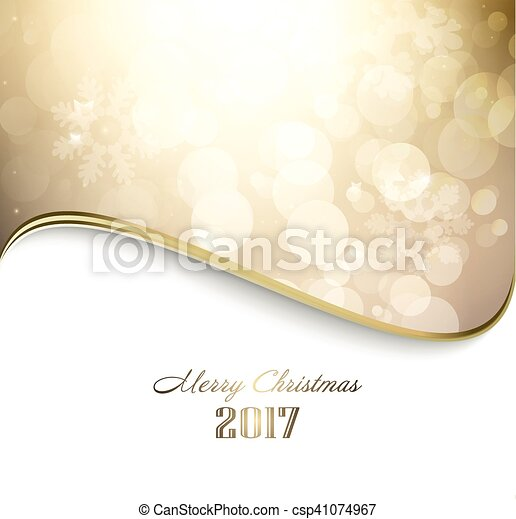 Happy Holiday Golden Christmas Background - csp41074967