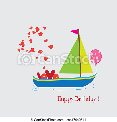 Happy holiday with boat - csp17049641