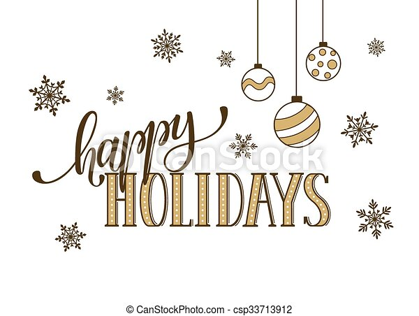 Happy holidays greeting card. Happy holidays postcard template ...
