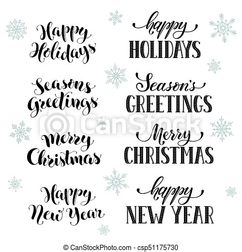 happy holidays phrases hand written new year phrases greeting card