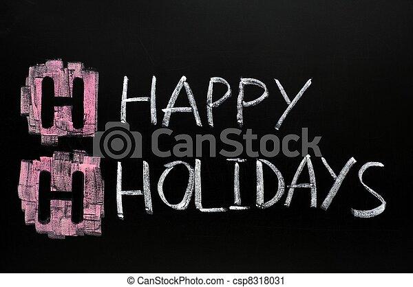 Happy holidays - csp8318031