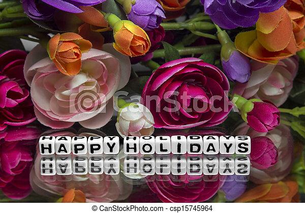 Happy holidays - csp15745964
