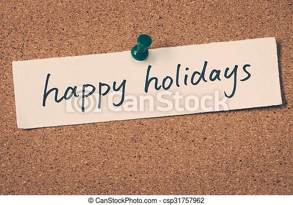 happy holidays - csp31757962