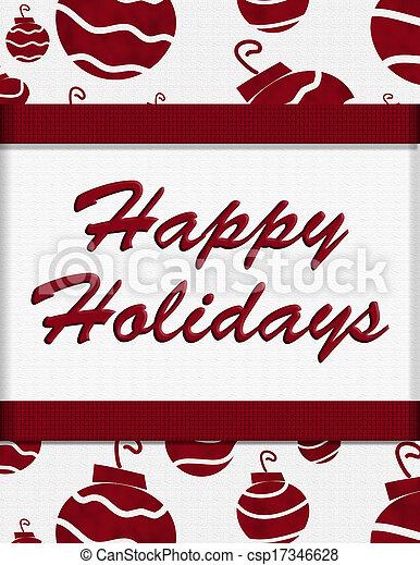 Happy Holidays - csp17346628