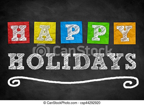 Happy Holidays - csp44292920