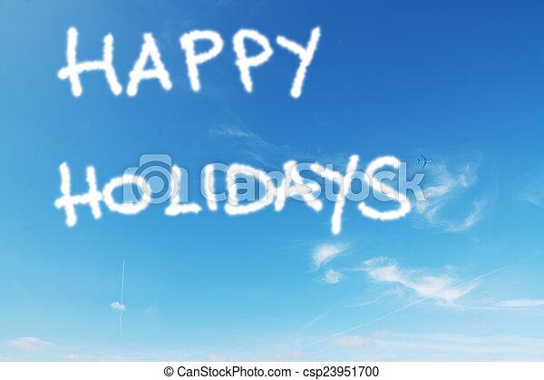 happy holidays - csp23951700