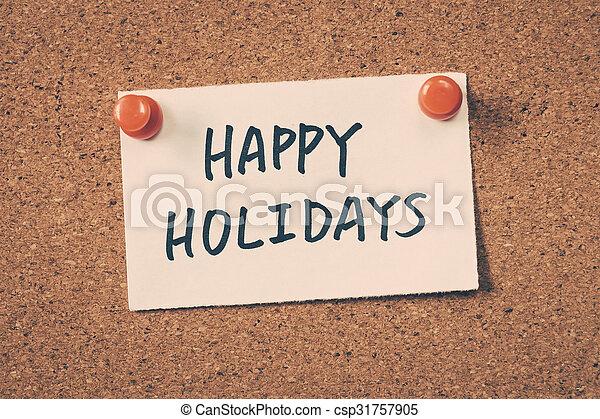happy holidays - csp31757905