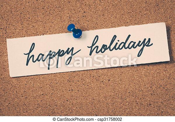 happy holidays - csp31758002