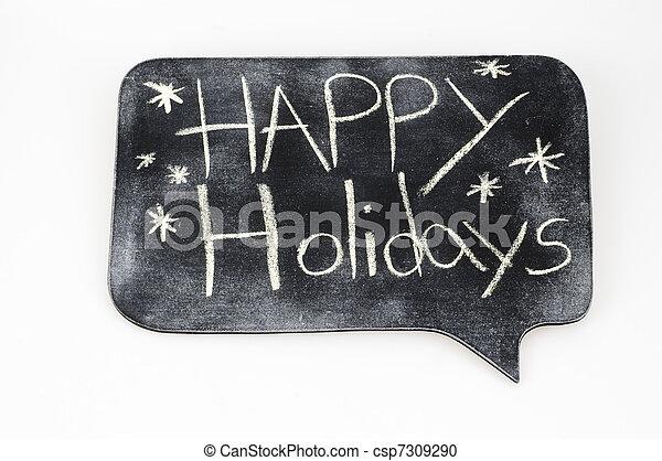 Happy Holidays - csp7309290