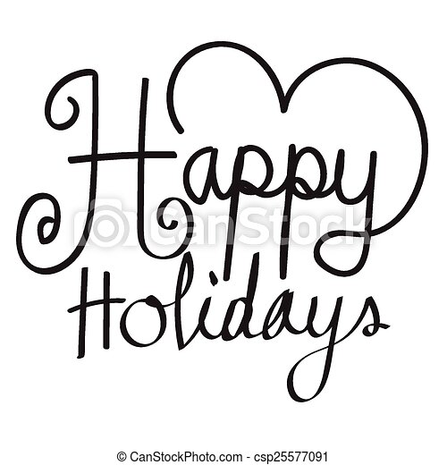 happy holidays vector illustration for your holiday eps vectors rh canstockphoto com happy summer holidays vector free happy holidays text vector
