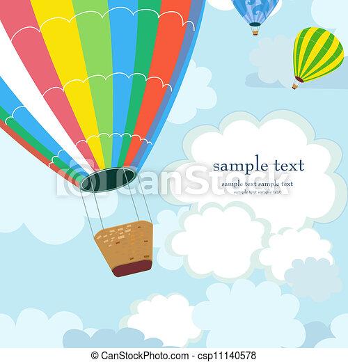 Happy hot air balloon - csp11140578