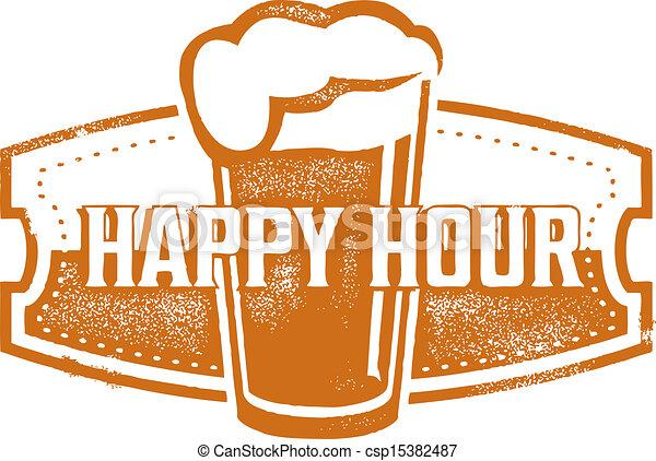 Happy Hour Beer Specials - csp15382487